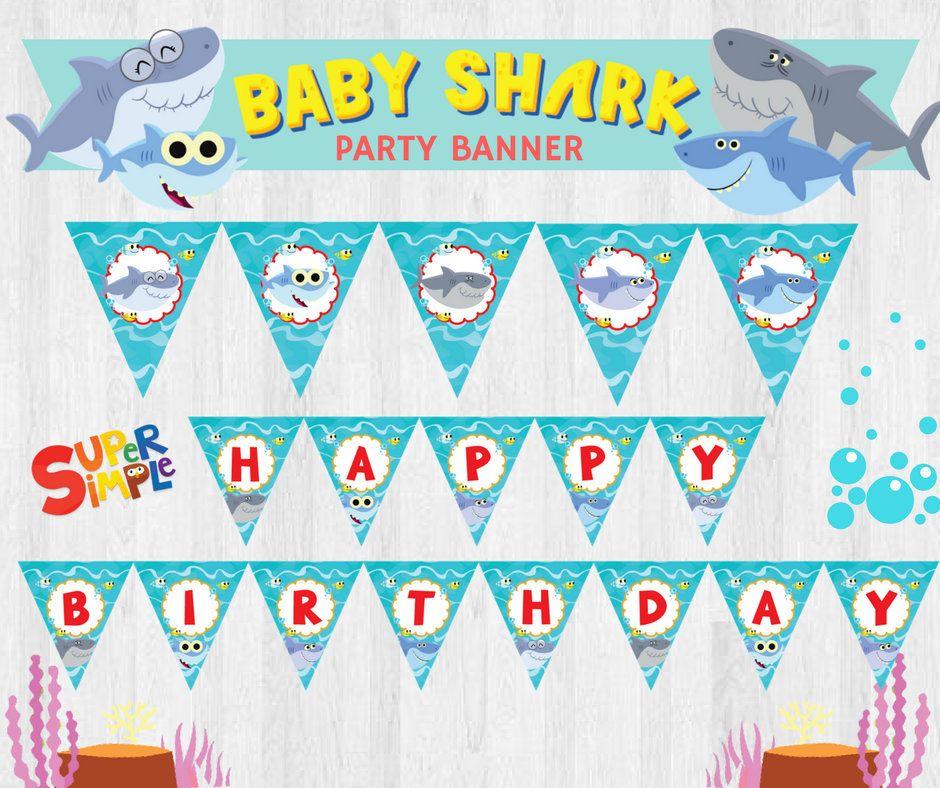 Super Simple Songs Baby Shark EDITABLE Birthday Party