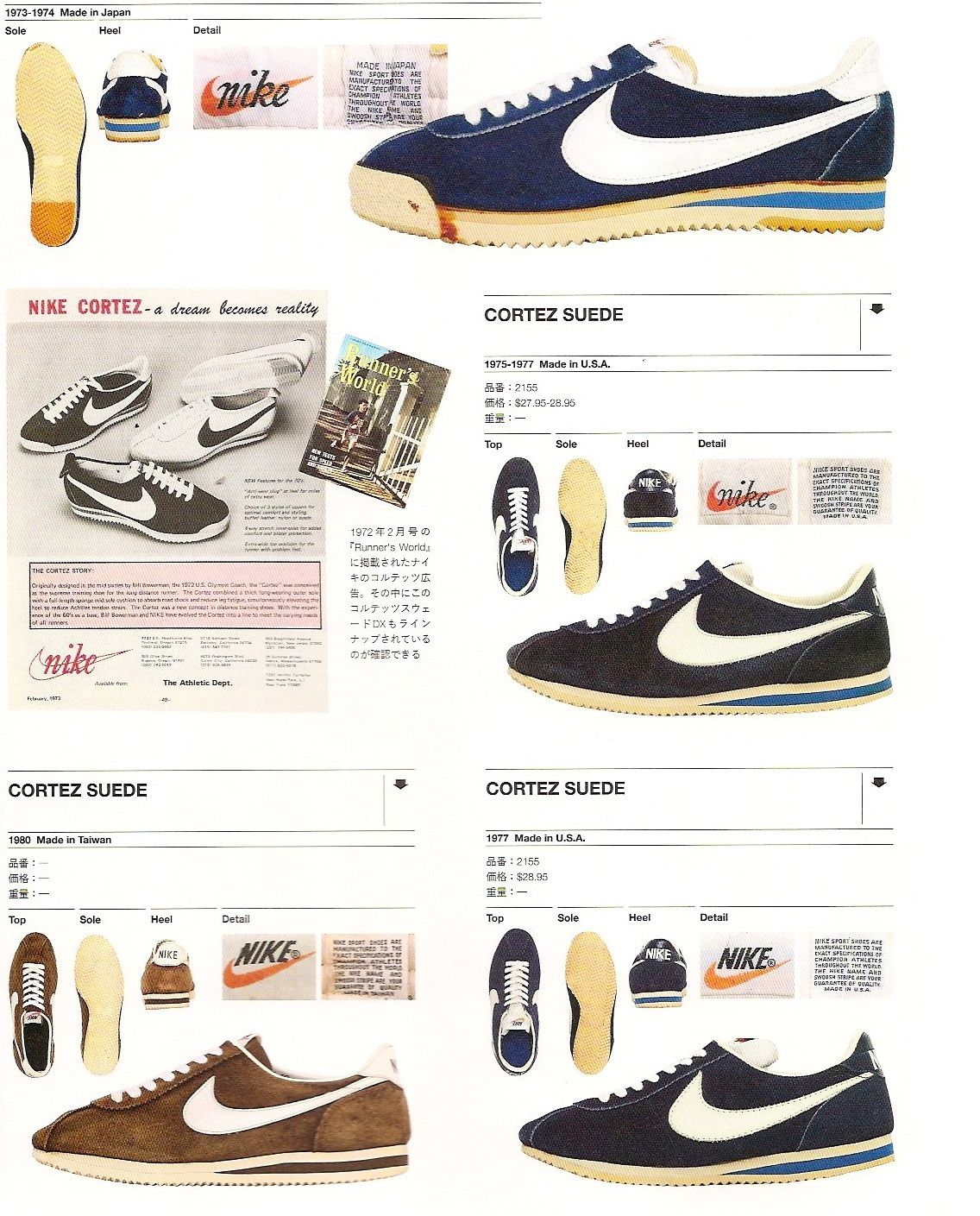 sports shoes 38c5b 2fb5a vintage nike cortez suede 1973-1980 | 1980 NOVEL plotline pics in ...