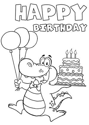 Cool and Funny Printable Happy Birthday Card and Clip Art