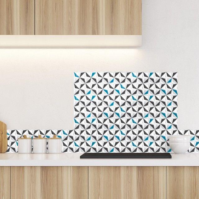 Ma crédence ALU Origami Style bleu Pep s