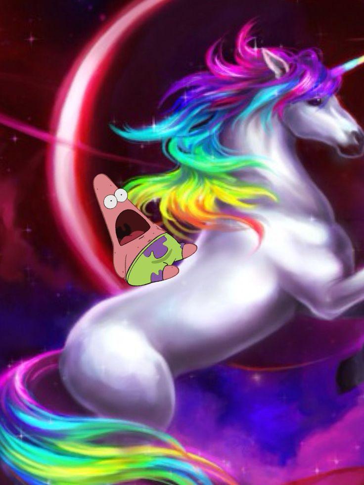Unicorn Flying in Space | via junior pickens