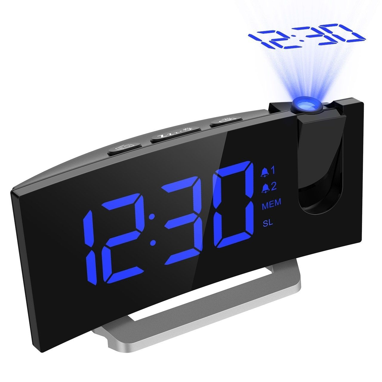 Mpow Fm Projection Clock With 2 Alarms