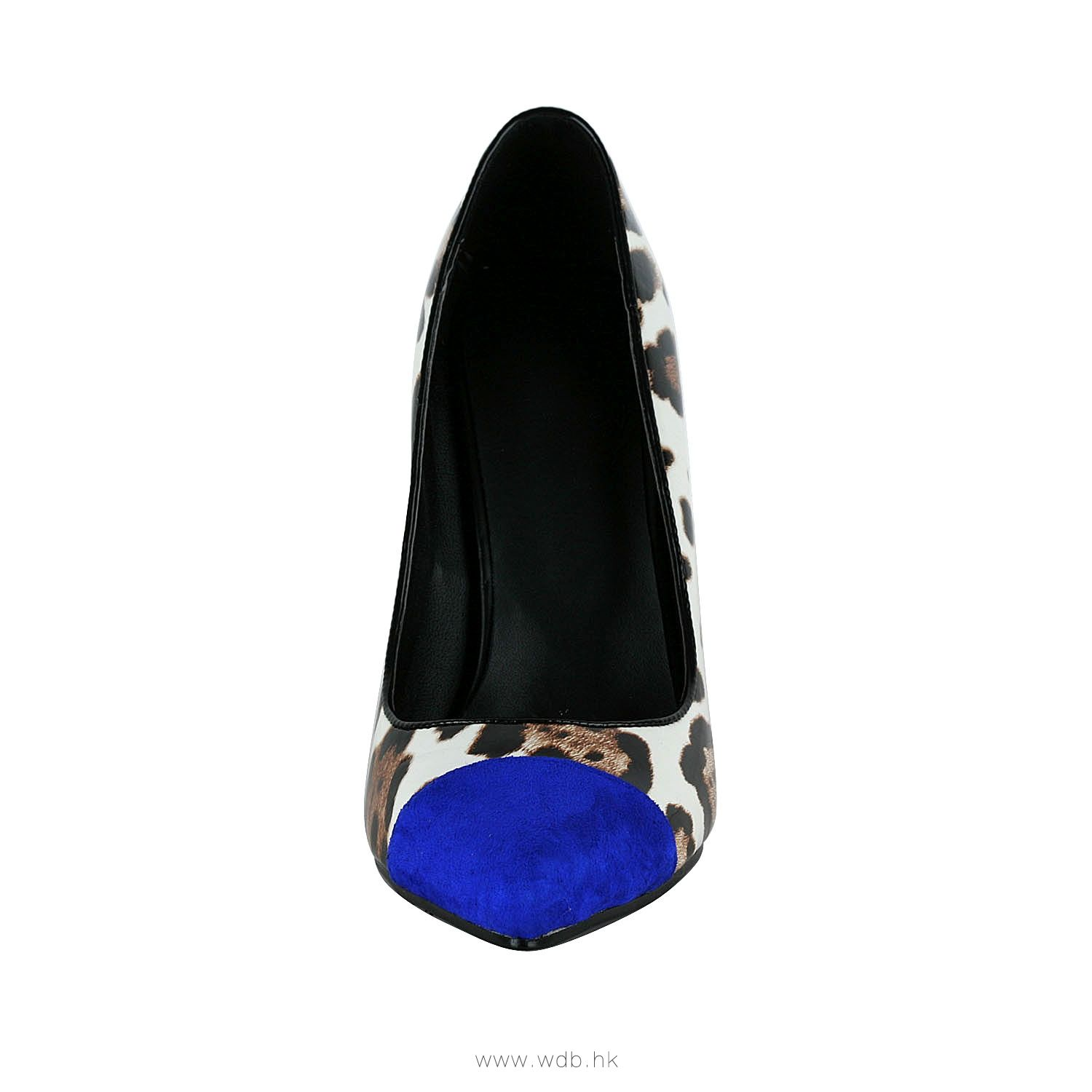 4 inch blue toe Leopard Leather shoes $41.98