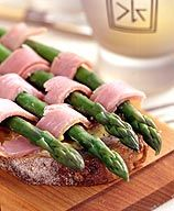 Ham and Asparagus Stacked Sandwich