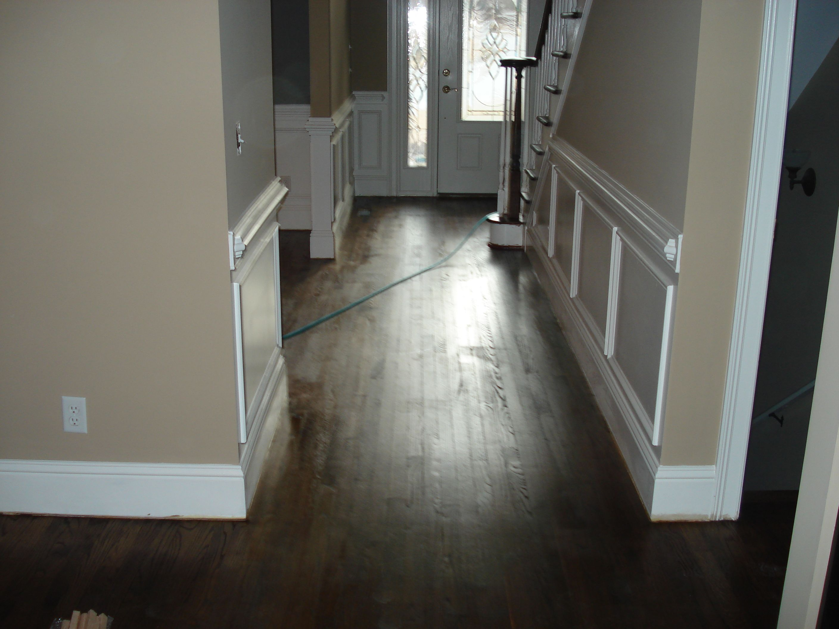 Dark Wood Floor Pictures For Flooring Decor Inspirations Terrific White Wainscoting Panels With Gray Wall Interior Also Cool Brown Solid Maple