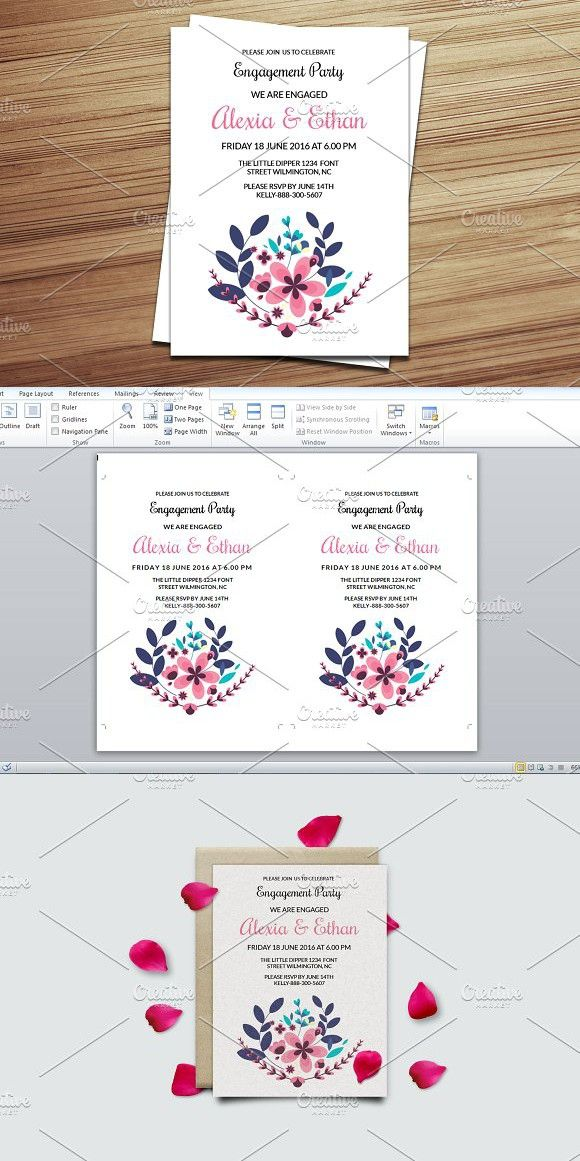 Engagement Party Invitation Template Wedding Card Templates - engagement party templates