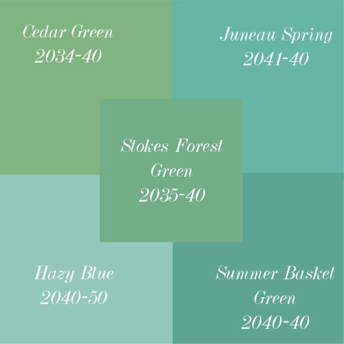 Vintage Green Shades Of From Benjamin Moore