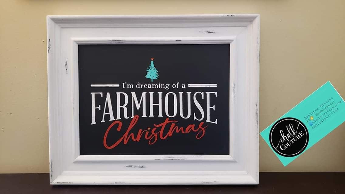 Farmhouse Christmas Chalk Couture Today Holiday Chalk Farmhouse Christmas