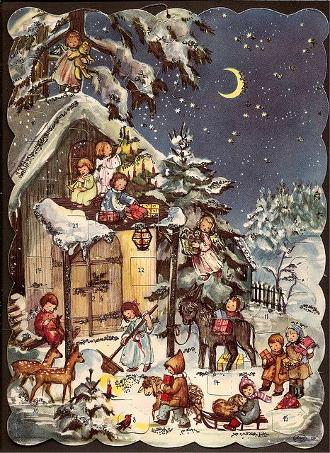 Advent Calendar Vintage : Advent calendar calendars vintage and