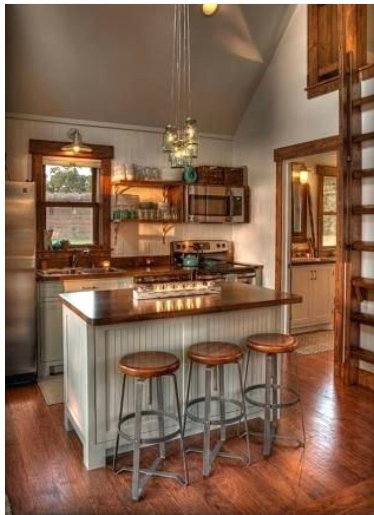 Pin By Catherine Taylor On Our Cabin Design Tiny House Kitchen Cottage Kitchens Cabin Kitchens