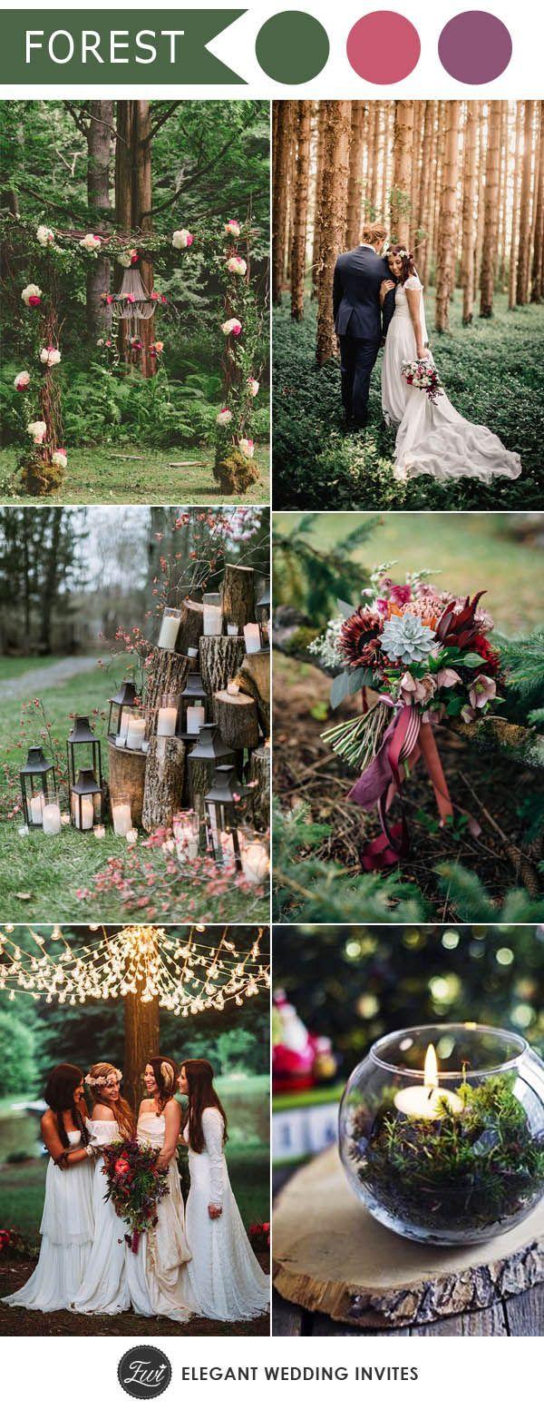 ten trending wedding theme ideas | woodland wedding, boho