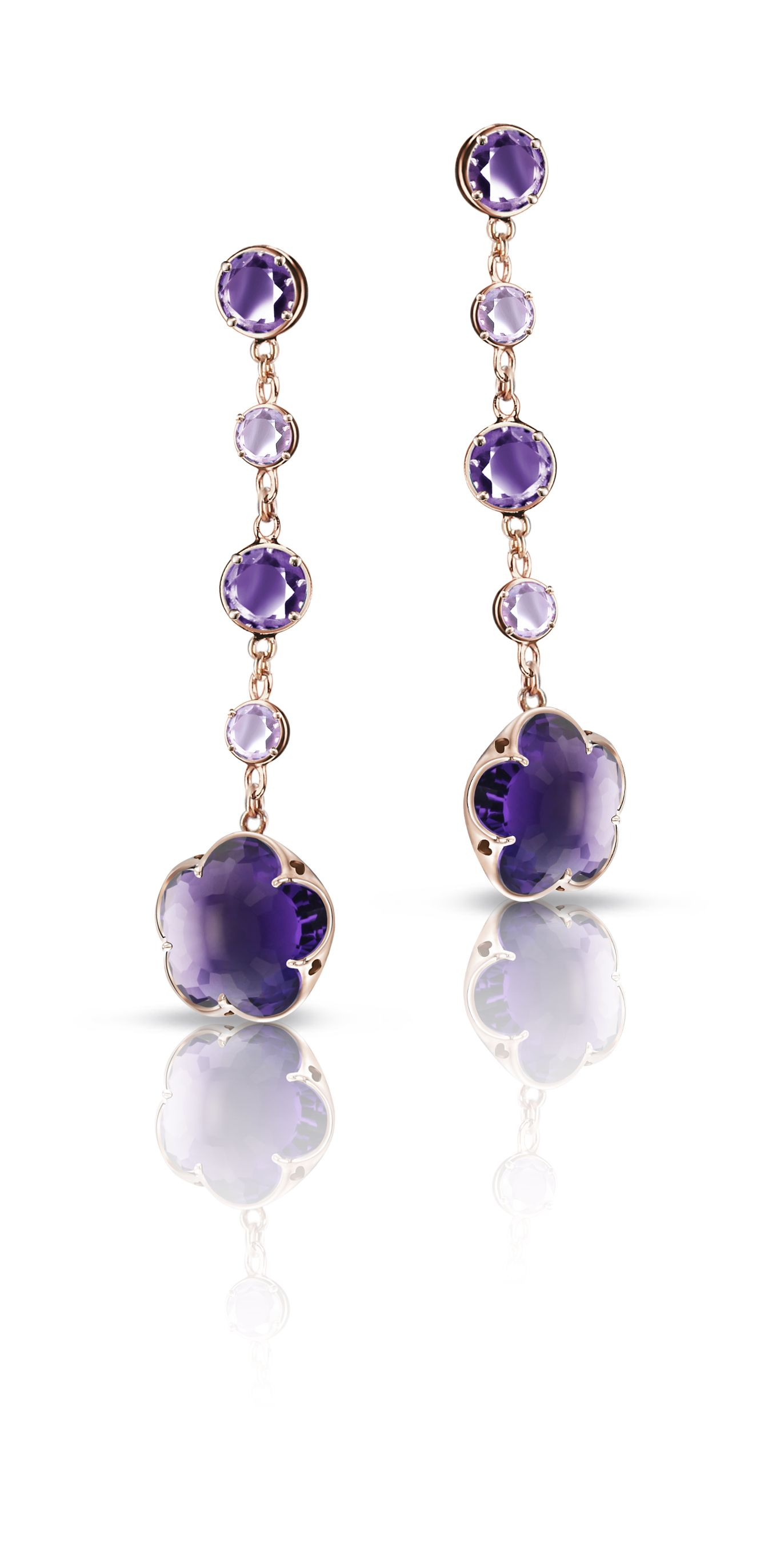 earrings amethyst technibond stone d pear shaped products
