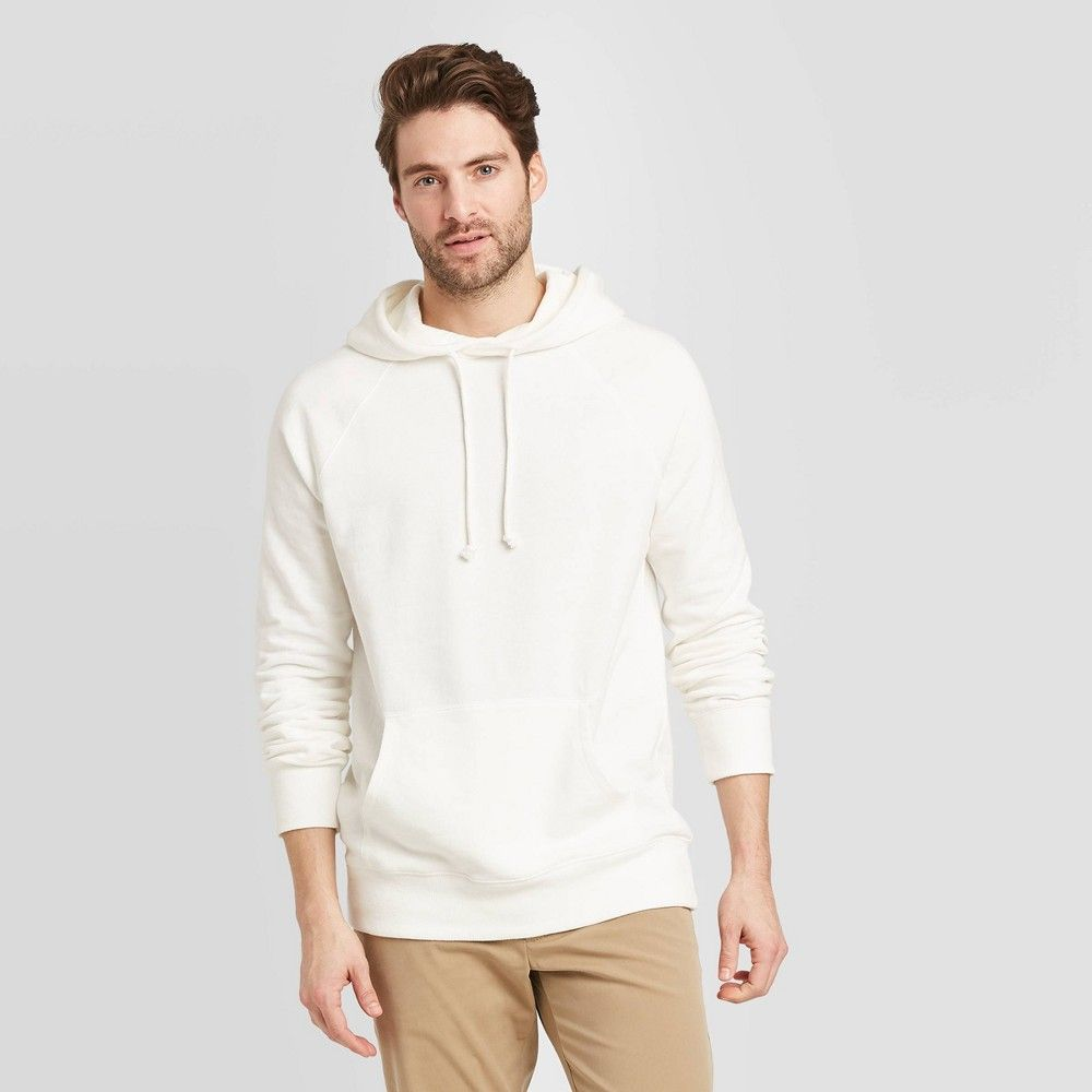 Men S Regular Fit French Terry Hoodie Sweatshirt Goodfellow Co White Xxl In 2021 French Terry Hoodie Sweatshirts Hoodie Hooded Sweatshirt Men [ 1000 x 1000 Pixel ]