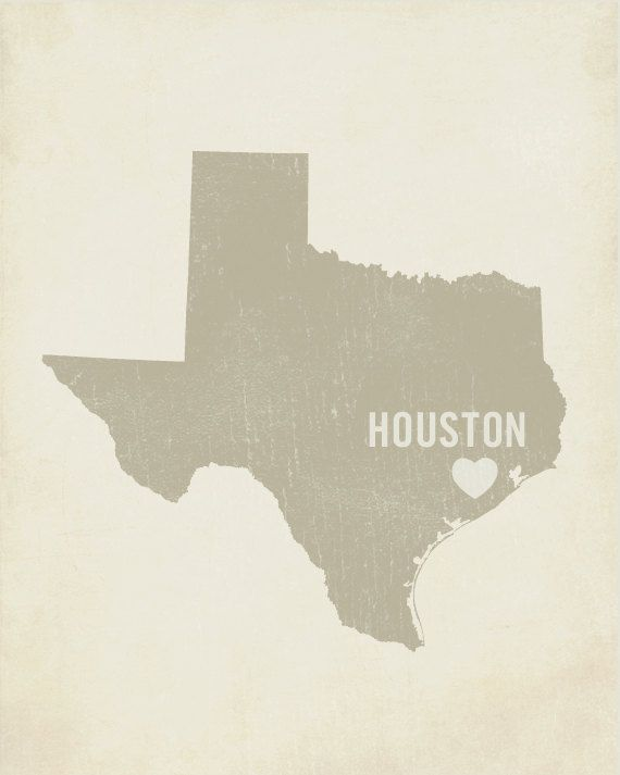Houston And Dallas Map.Home Is Where The Heart Is Something About Houston Tx Has