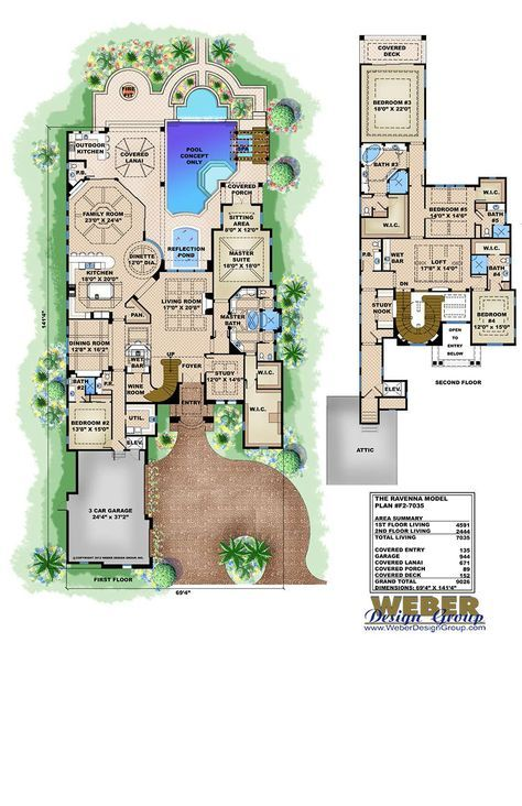 Beach House Plan Luxury Mediterranean Coastal Home Floor