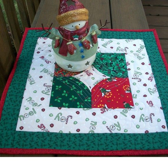 Christmas Candle Mat by QuiltingFrenzy on Etsy