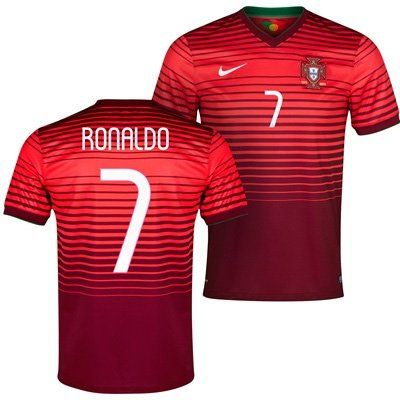 2014 15 Portugal World Cup Home Shirt (Ronaldo 7). Red Color