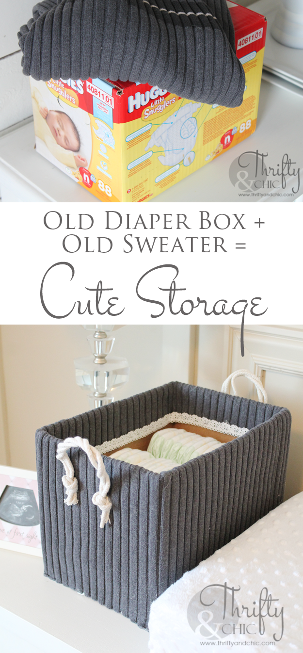 Cute Storage Boxes From Old Boxes And Sweaters Cute Storage Boxes Cheap Diy Organizer Recycle Organization