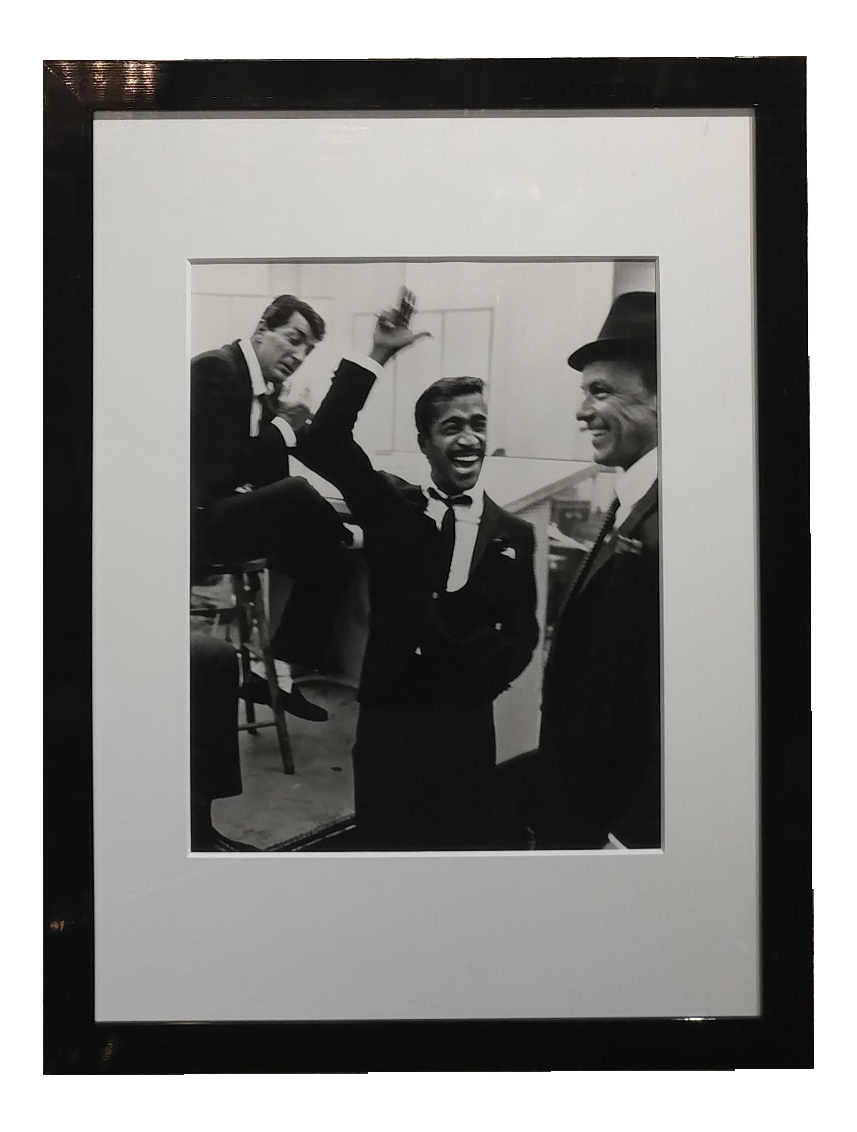 Rat Pack Dean Martin Frank Sinatra And Sammy Davis Jnr Framed Photo