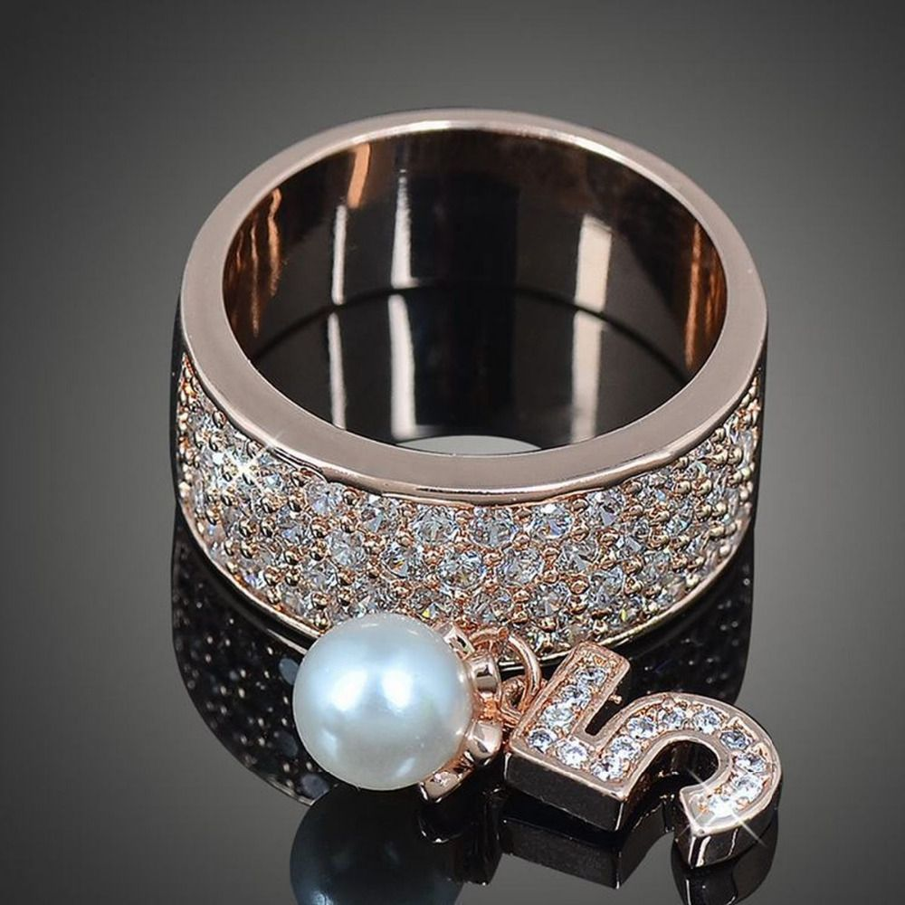 Claire Jin Shinning Number 5 Band Ring from clairejin.aliexpress.com