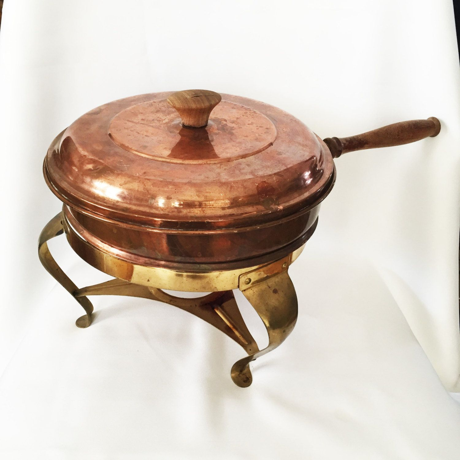 Cast iron kitchen trivet tea pot stand metal hot dish tray cookware - Copper Pot Stand And Warmer Large Copper And Brass Set Pot Bowl Lid And Warming Stand