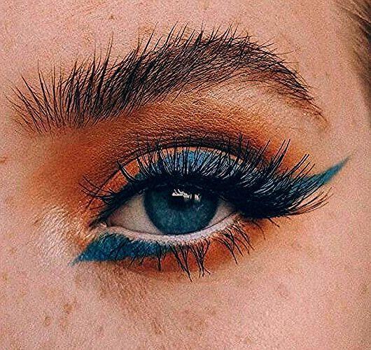 Photo of Lidschatten-Look in Orange und Blau – Beauty Home