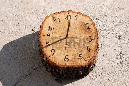 wooden handmade sundial clock is part of Gardening for kids - Picture of wooden handmade sundial clock stock photo, images and stock photography  Image 3947044