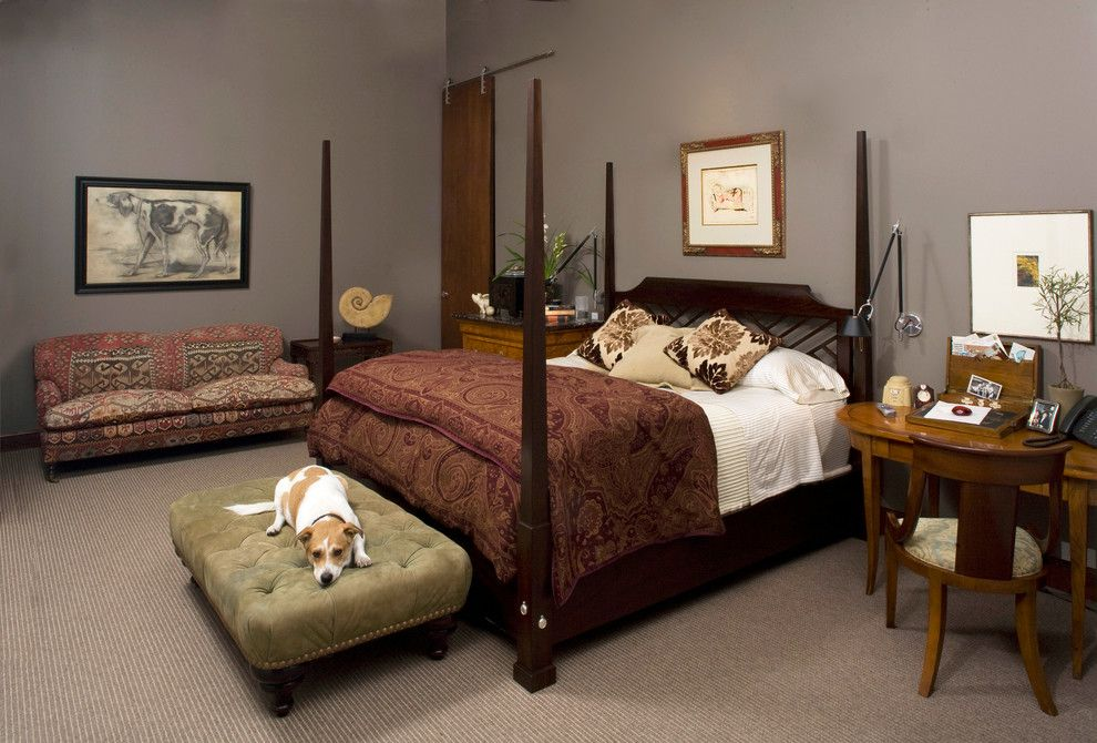 Handsome Dog Bed home renovations Traditional Bedroom Dallas | 50 Amazing Traditional Bedroom Design