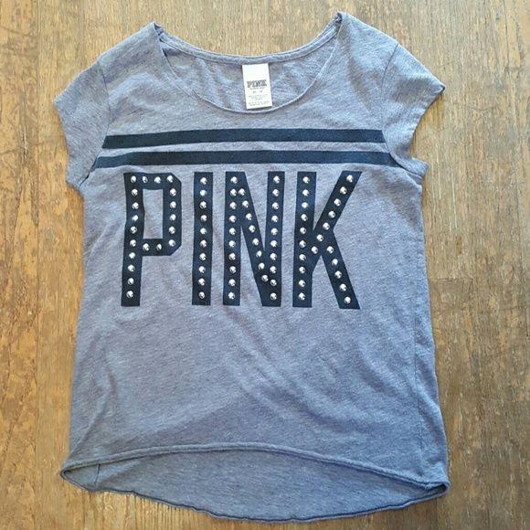 Victoria Secret Pink Shirt XS Gray Victoria Secret Pink Shirt Victoria Secret  Tops Tees - Short Sleeve