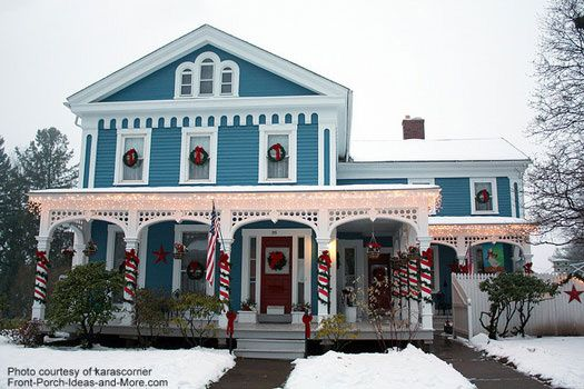 victorian country christmas outdoor christmas decorations adorn this beautiful county style home