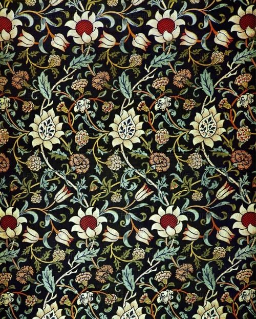 Print Pattern William Morris Arts Crafts Movement Art - Arts and crafts fabric patterns