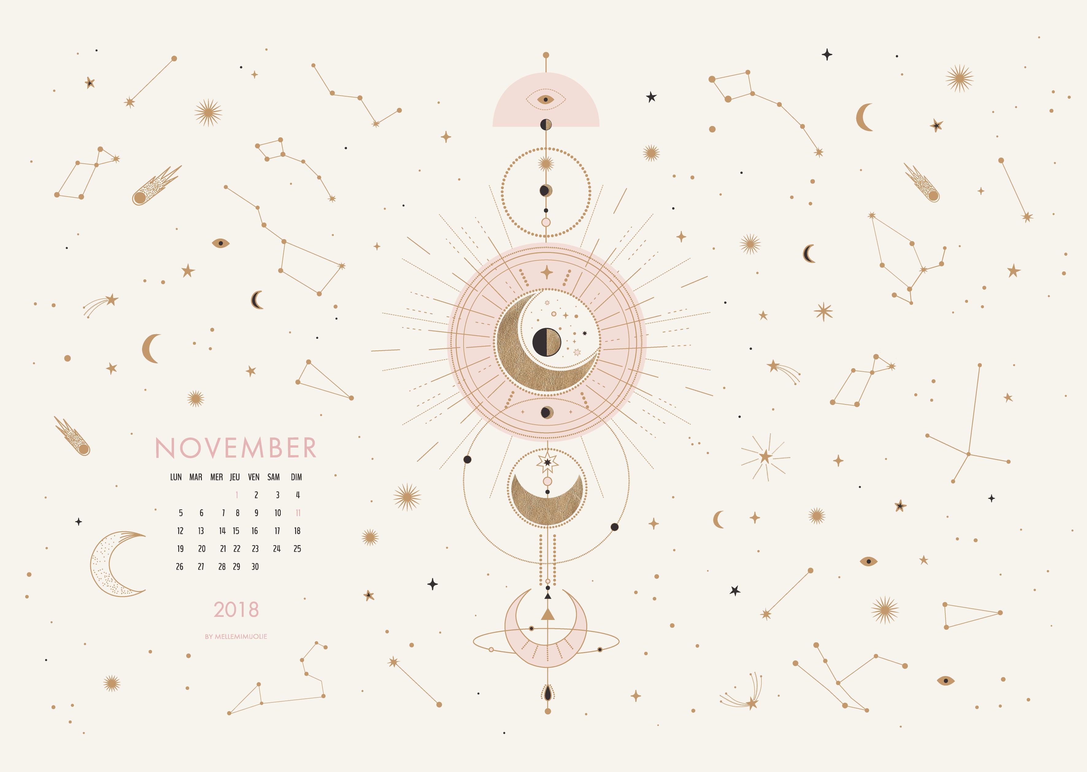 Constellations : le calendrier de Novembre   MelleMimijolie   Fond