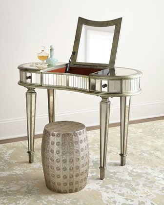 Kelly Mirrored Vanity at Horchow. | Mirrored furniture