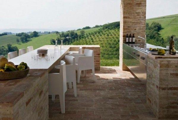 Cucina da giardino e terrazzo | Terrazzo, Architecture interior ...