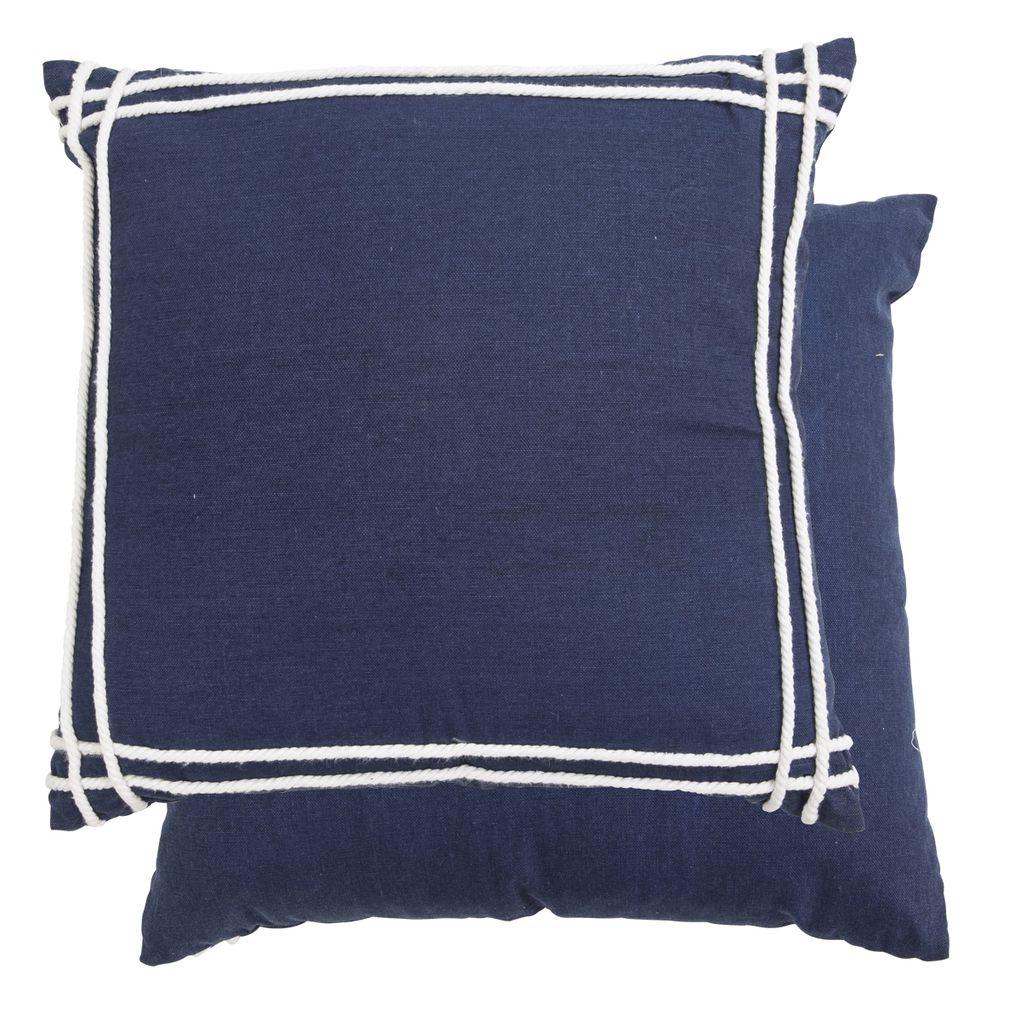 Noosa Cushion Dark Blue Multi Pillow Talk Cushions