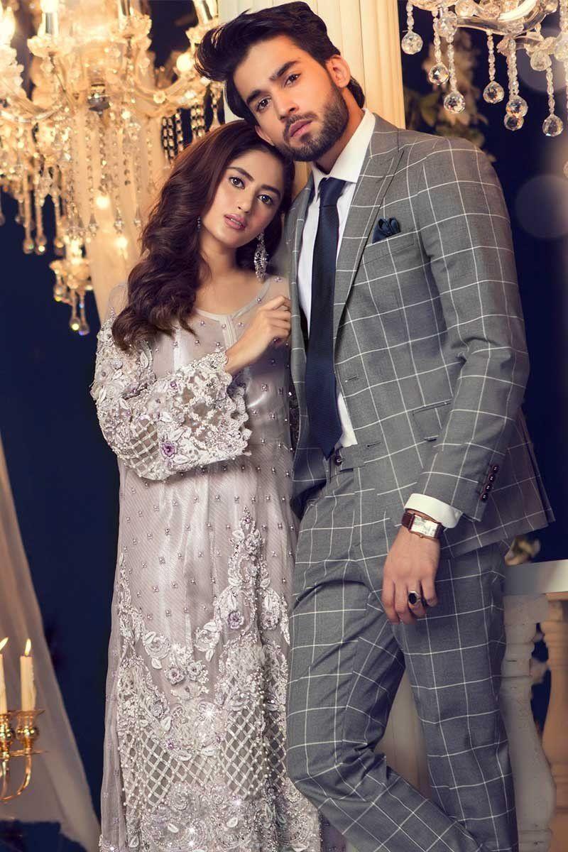 5ce87e339e56 Maria B Couture Latest Fancy Formal Wedding Dresses 2018-19