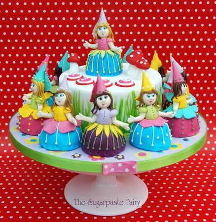 12 Dancing Flower Princesses Cake
