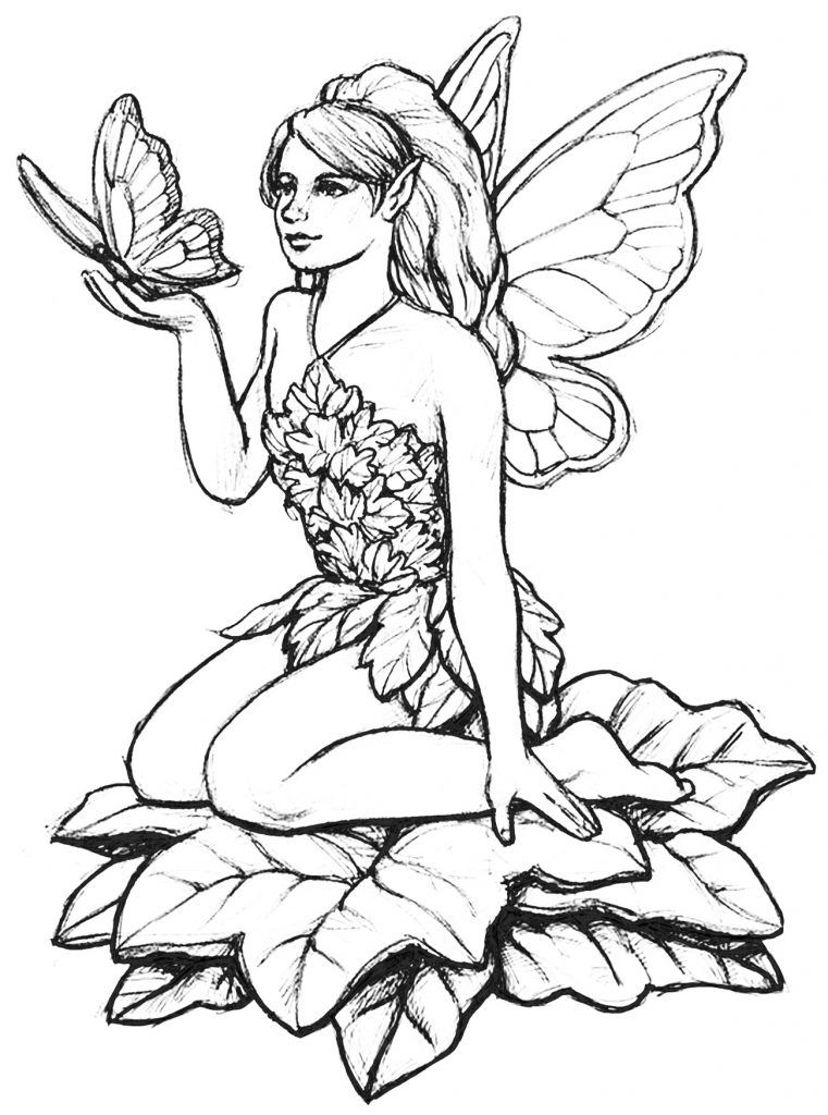 Fairy Coloring Pages for Adults | Fairy coloring pages ...