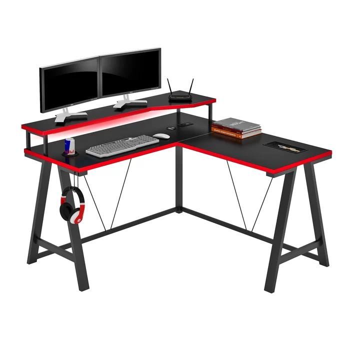 Hochstetler L Shape Gaming Desk In 2020 Gaming Desk Desk L Shaped Desk