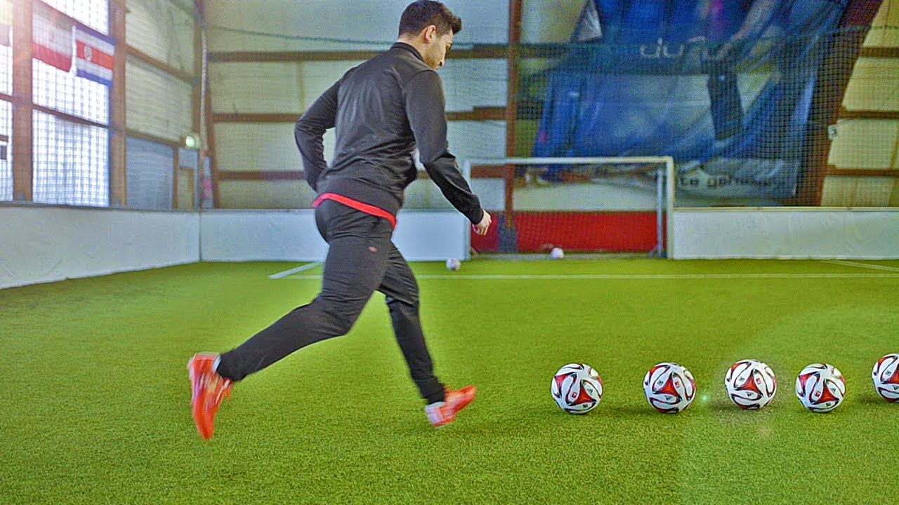 How To Shoot a Curve Ball Free Kick Tutorial w/ Gündogan