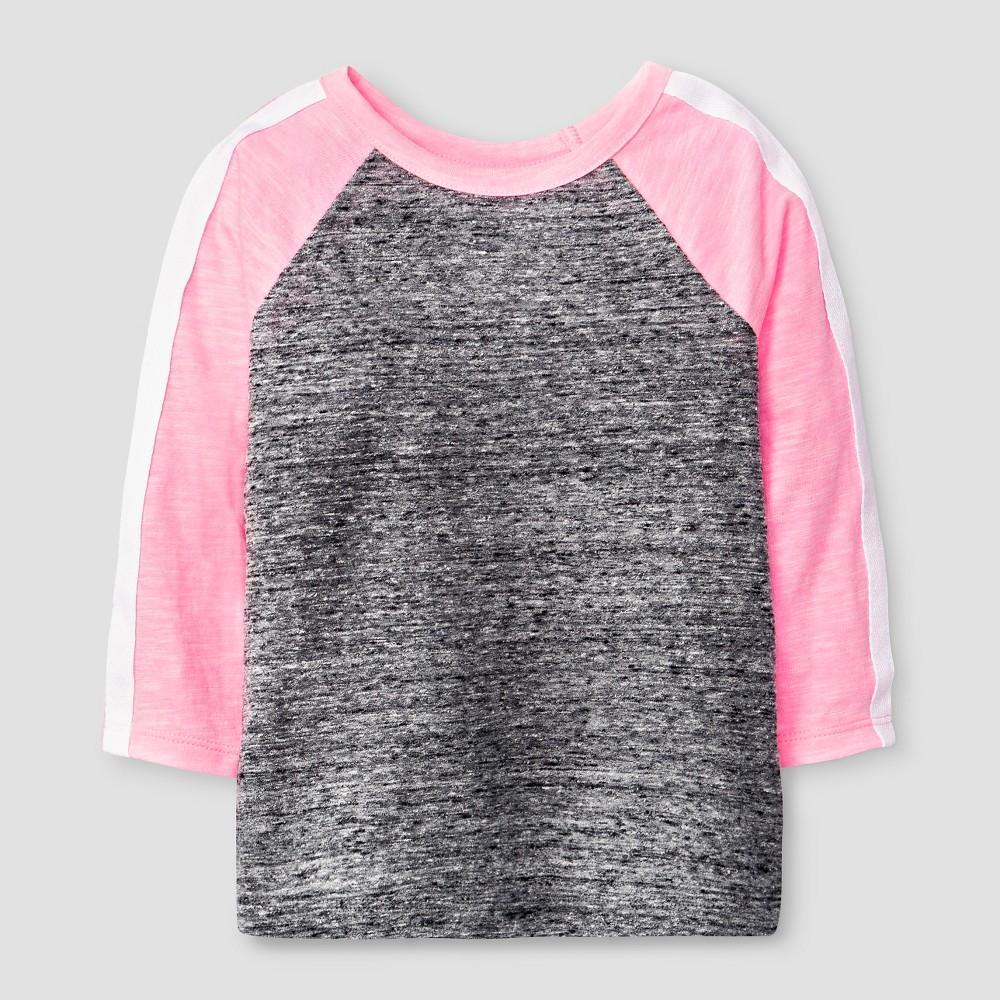 572a785f2 Toddler Girls  3 4 Sleeve Raglan T-Shirt - Cat   Jack™ Black Pink 5T ...