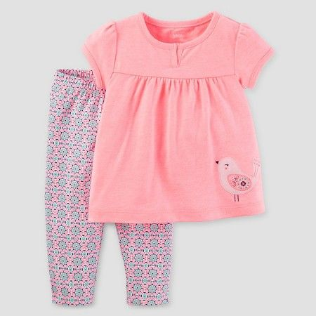 0e06a3cfa Baby Girls' 2 Piece Set Bird Pink - Just One You™ Made by Carter's® : Target