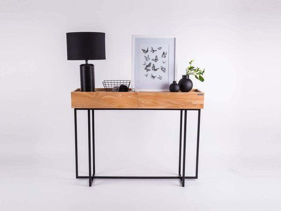 Design Spiegel Hal : Console table with drawers ika entryway hallway conole modern
