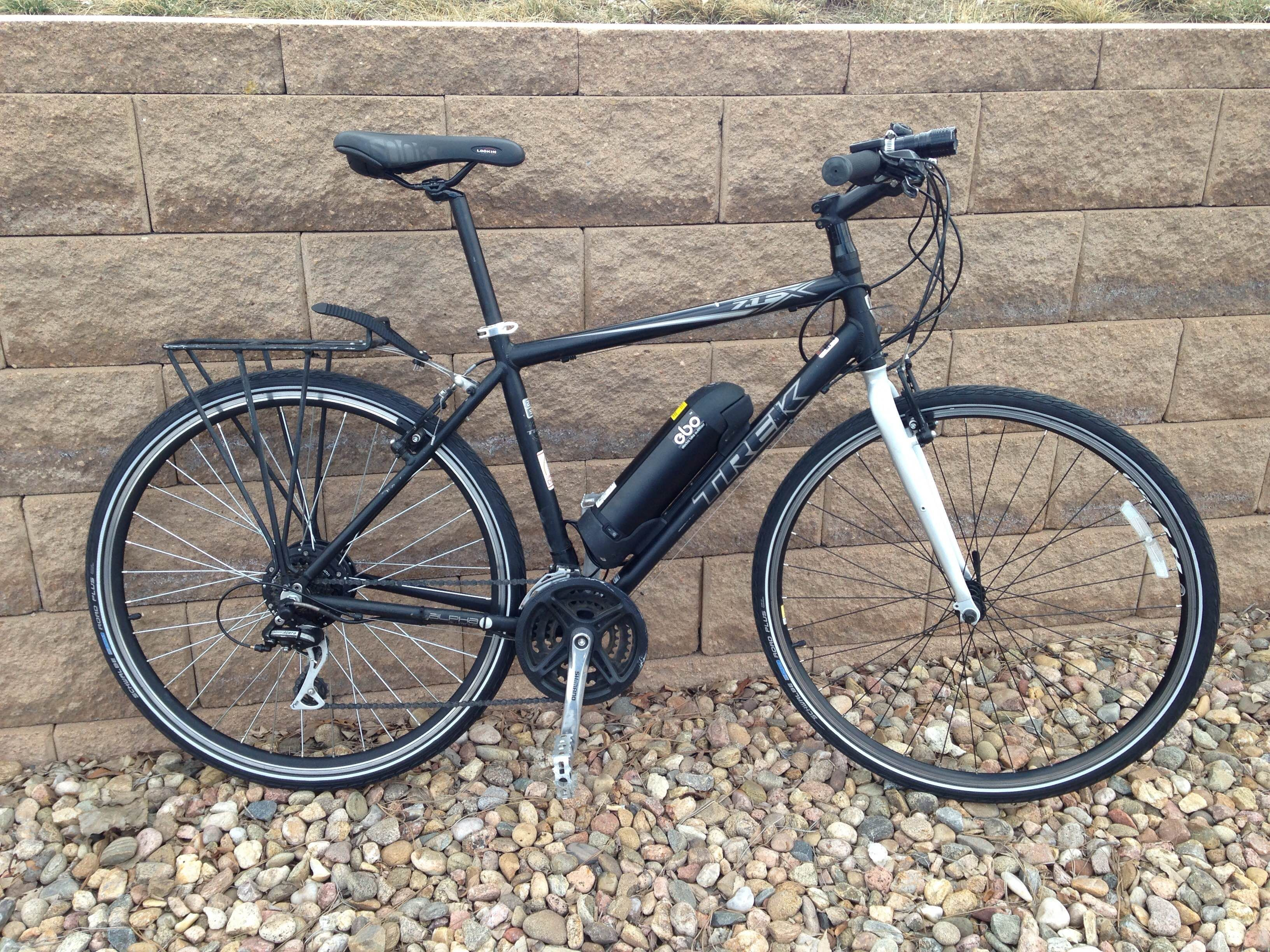 Ebo Phantom Electric Bike Conversion Kit Installed On A Trek 7 1