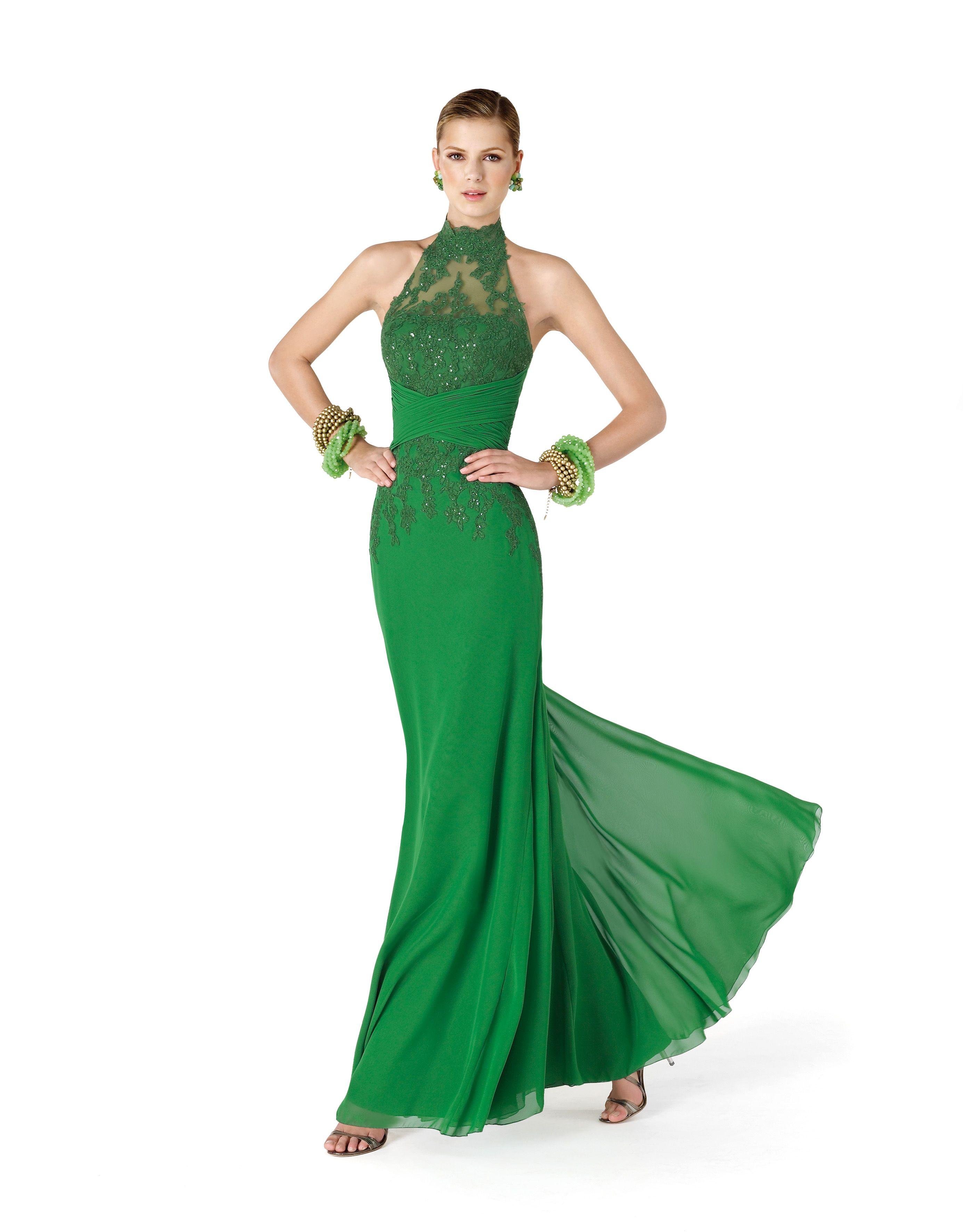 Vestidos de noche verde