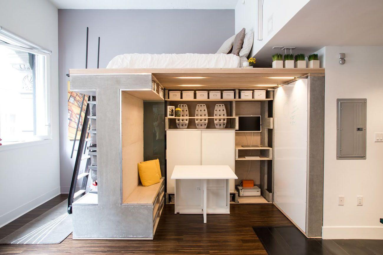 Pre-Fabricated Compact Loft Apartment - San Francisco, California