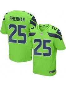 6dce262e6f0 Seattle Seahawks Nike Men's #25 Richard Sherman Elite Green Rush ...