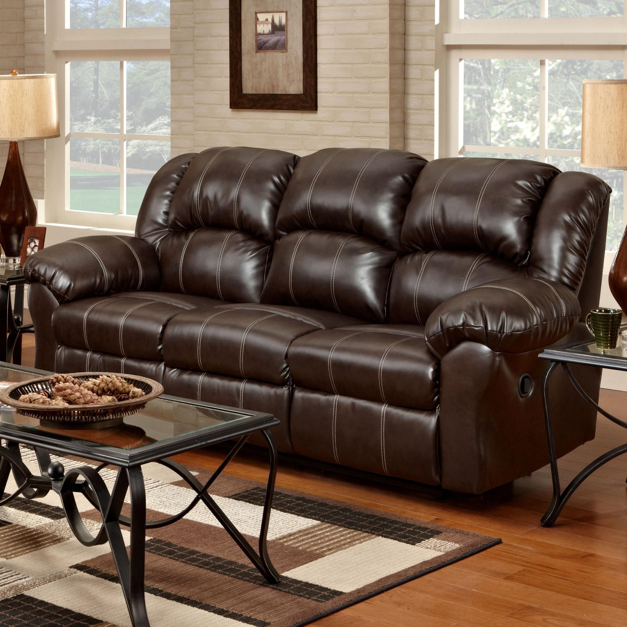 1000 Reclining Sofa With Pub Back Saddle Stitching By Affordable  ~ Payton Power Reclining Sofa