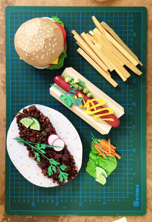 nojesguiden fast food by ollanski via behance crafts in 2018 pinterest bildende kunst. Black Bedroom Furniture Sets. Home Design Ideas