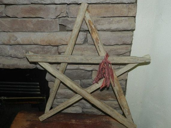 Primitive Tobacco Stick Wooden Star with Rust by DoodlePawDesigns, $15.00